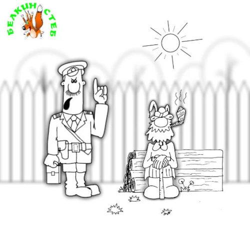 Анекдот: Гнали, гоним и будем гнать! Карикатура