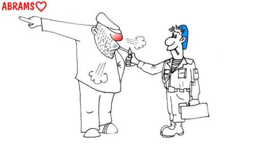 Анекдот про дембеля и чистую любовь. Карикатура