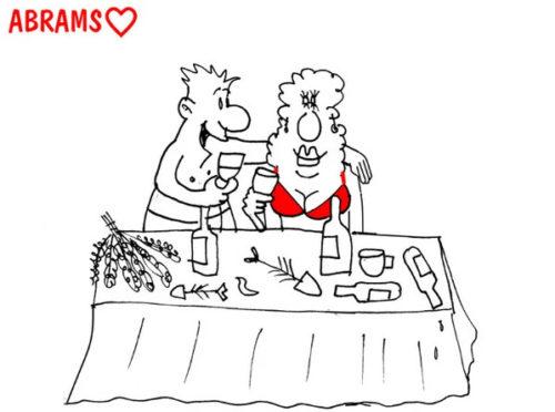 """Анекдот про """"жрицу любви"""" и одинокое Васино сердце. Карикатура"""