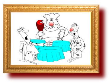 Прикольные шутки и картинки про рестораны