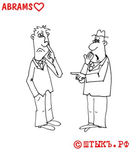 Анекдот про хирурга. Карикатура