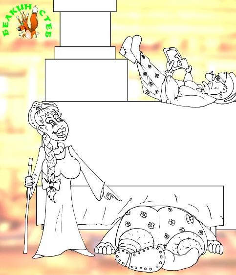 Анекдот про злющую свекровь и ее скотинку. Карикатура
