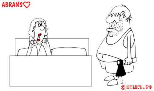 Анекдоты про ночь и топор. Карикатура