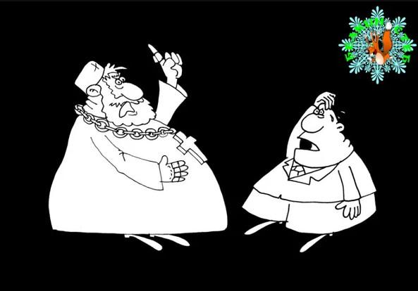 Про олигархов. Карикатура