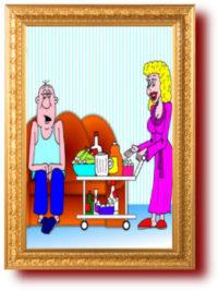 Карикатуры в картинках про жен