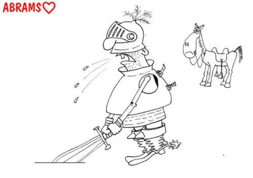 Анекдот: Про одинокую принцессу. Карикатура