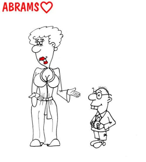 Сын - математик. Карикатура