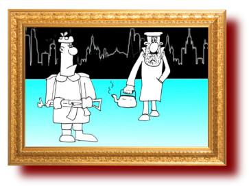 Гастарбайтер. Карикатура
