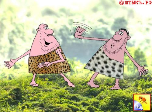 Прикольный анекдот о дружбе. Карикатура