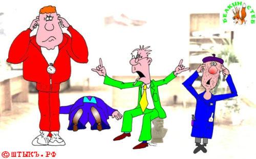 Анекдот про великий и могучий литязык. Карикатура