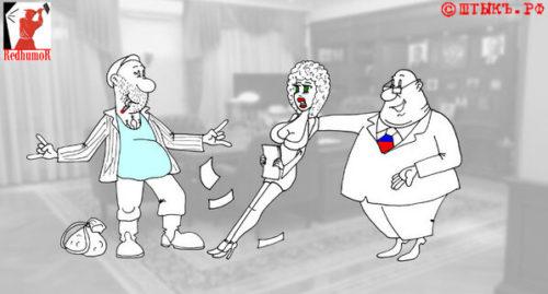 Анекдот-сатира: Браток братка помнит. Карикатура