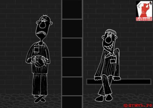 Анекдот-сатира про стукача. Карикатура
