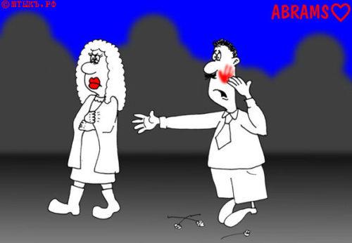 Анекдот про городского гусара. Карикатура