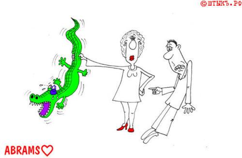 Анекдоты о любви: Зеленый эталон женской красоты. Карикатура