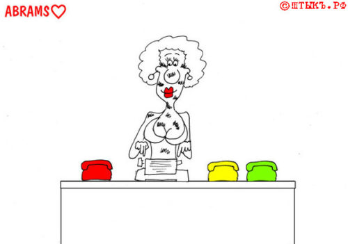 Анекдот про советскую любовь. Карикатура