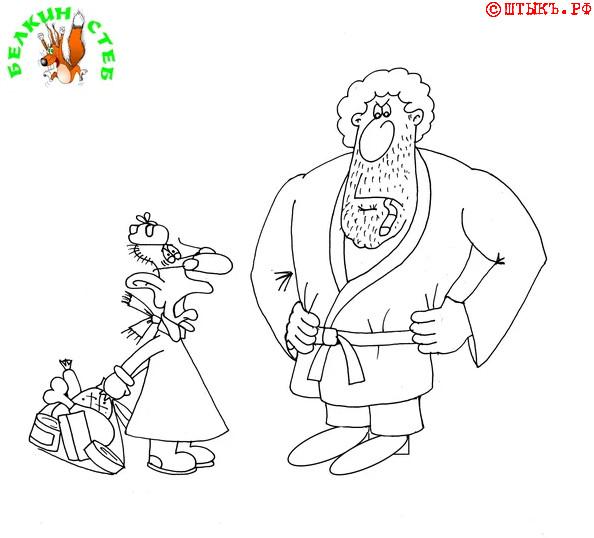 Анекдот-совет. Карикатура