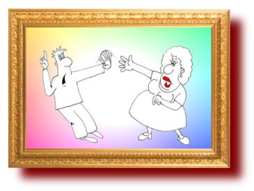 Карикатура на нахала. Анекдоты в картинках смешные до слез
