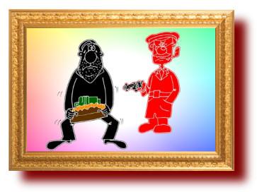 Советский анекдот про борьбу с проклятыми расхитителями . Миниатюра