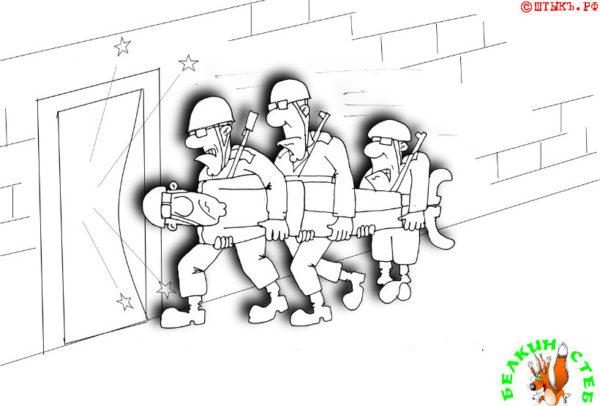 На соревнованиях. Карикатура