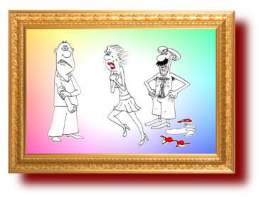 о случайной любви. Карикатура