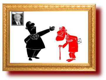 Чиновники и старики в карикатурах