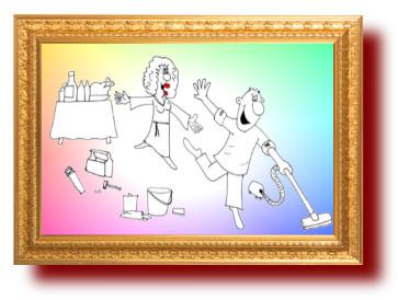 Женские фантазии про идеального мужа. Карикатура