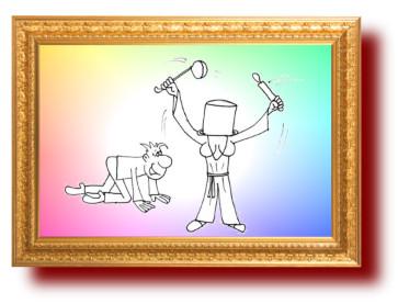 Карикатура на слабых мужей