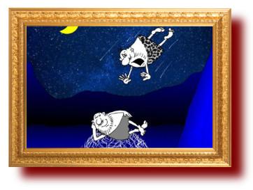 Анекдот про звездопад из дикарей. Миниатюра