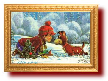Советские открытки с собаками. Миниатюра