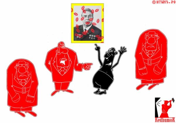 Анекдот про СССР с карикатурой