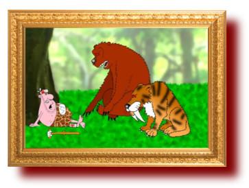 Познавательная притча про жадных древних хищников. Миниатюра