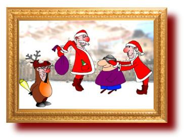 Новогодний анекдот про оленей по-жизни. Миниатюра