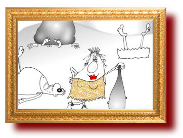 Карикатура про знакомство с дикими соседями