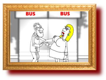 Анекдот про потерю женской бдительности. Карикатура