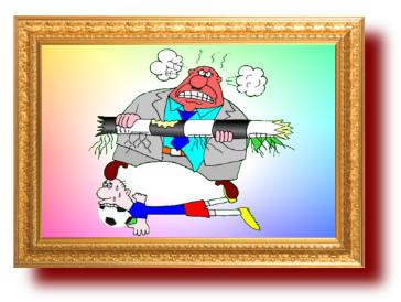 Карикатура Анекдот не про сборную России по футболу
