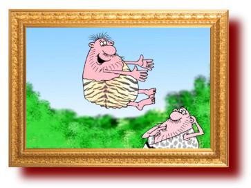 Карикатура шутка- условие для овладения боевыми искусствами
