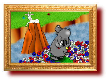 Басни Эзопа в картинках: Волк и коза