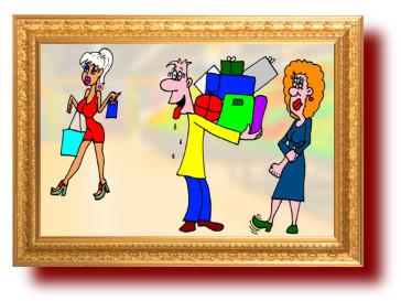 Веселые анекдоты о смышленых женах и глупых мужьях. Смешные картинки