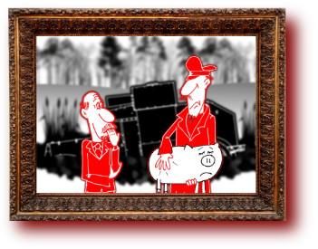 Анекдот с карикатурой про Ленина и Дзержинского. Карикатура