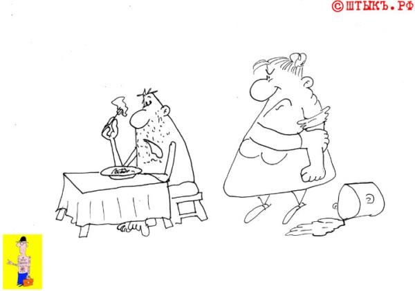 Про жирную жену. Короткий анекдот