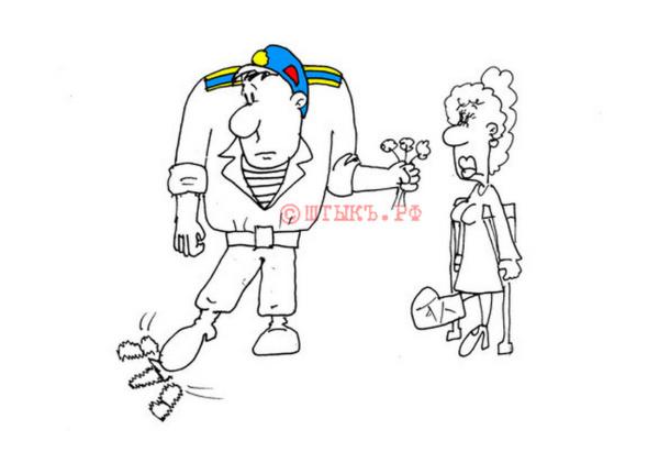 Курсант-десантник гуляет с девушкой