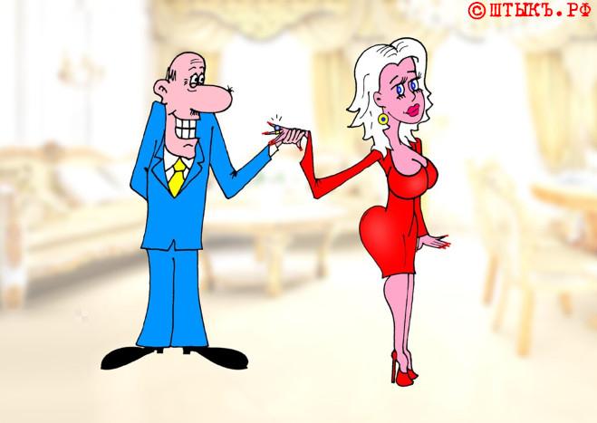 Блондинка и старый, но бриллиантовый пень. Короткий анекдот