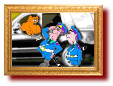 Лучшие анекдоты: Собачка за рулем и гаишник