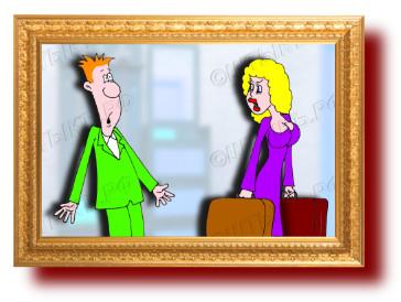 Анекдот про странную логику жены