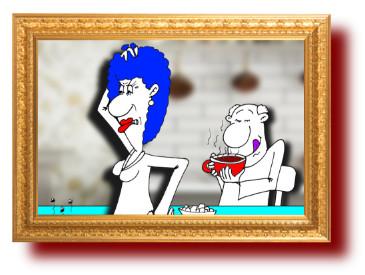 Анекдот о полезных напитках и заботливую жену