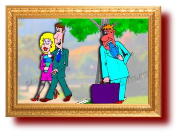 Анекдот про неверную жену и мужа с рогами